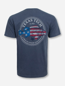 American Fish Denim Blue T-Shirt - Texas Tech