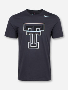 Nike Texas Tech Contrast Double T Charcoal T-Shirt