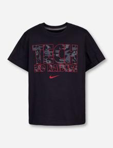 Nike Texas Tech Tech Red Raiders in Black Camo on Black YOUTH T-Shirt