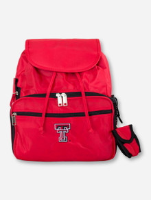 Double T on Red Diaper Bag