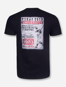 Original Sultans of Swing Vintage Baseball on Black T-Shirt - Texas Tech