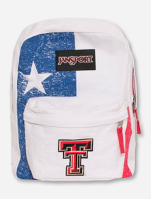 "Jansport Texas Tech ""Lonestar"" White, Red & Blue Backpack"