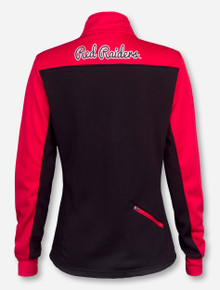 Arena Texas Tech Double T on Black and Red Women's Quarter Zip Pullover