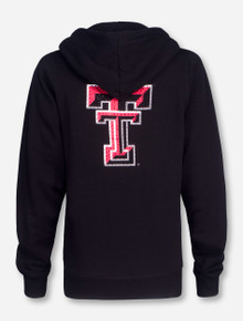 Arena Texas Tech in Script on Black Women's Full Zip Hooded Sweatshirt
