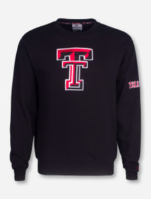 Arena Texas Tech Double T on Black Sweatshirt