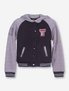 Arena Texas Tech Bling Double T on Black and Grey YOUTH Jacket