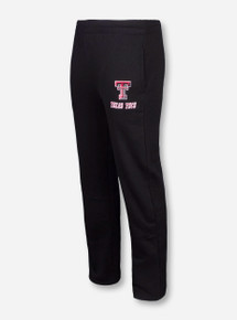 Arena Double T with Slanted Texas Tech on Black Sweatpants