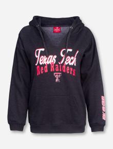 Arena Script Texas Tech on Charcoal Women's Hoodie