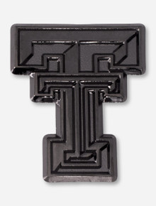 Texas Tech Double T Black & Chrome Car Emblem