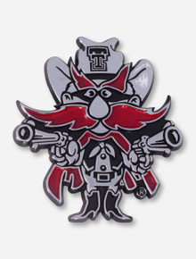 Texas Tech Raider Red Car Chrome Emblem