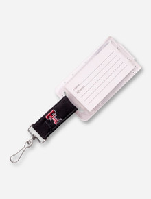 Texas Tech Double T on Black Luggage Tag