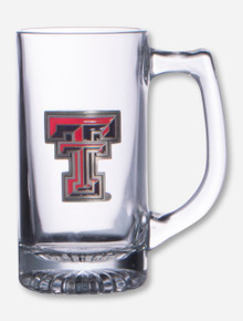 Texas Tech Enamel Double T Emblem on Glass Mug