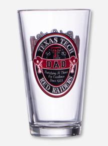 Texas Tech Dad Pint Glass