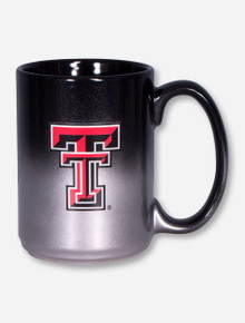 Texas Tech Double T on Silver & Black Ombre Coffee Mug
