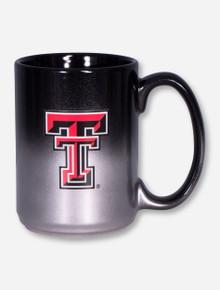 Texas Tech Double T on Silver & Black Ombre Coffee Mug