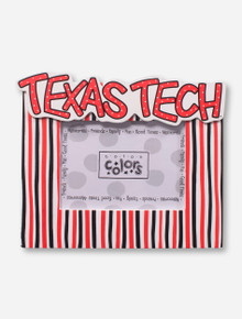 Texas Tech on Striped Red & Black Frame