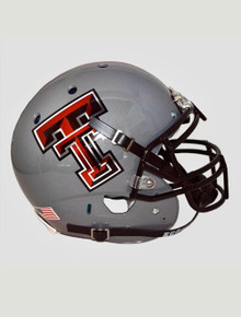 Schutt Texas Tech Grey Authentic Helmet