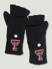 Texas Tech Double T on Convertible Black Runback Gloves