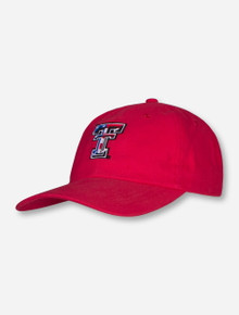 Texas Tech Double T on Red Adjustable Cap