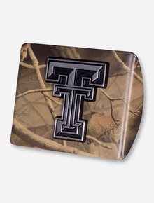 Texas Tech Chrome Double T on Camo Hitch Cover