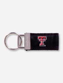 Texas Tech Double T Black Cloth Keychain