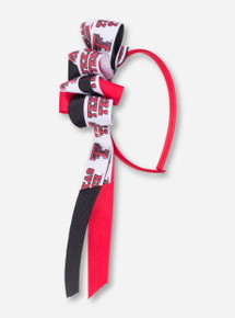 Double T & Texas Tech White Bow Headband