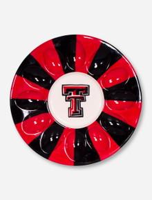 Texas Tech Double T on Red & Black Deviled Egg Platter