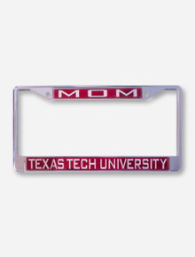Mom Texas Tech University on Red License Plate Frame
