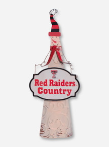 Texas Tech Red Raiders Country Snowman Figurine