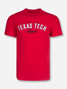 Texas Tech Alumni Script on Red T-Shirt