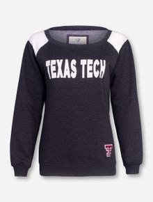 Arena Texas Tech on White And Heather Charcoal Women's Sweatshirt