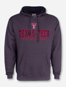Arena Blocked Texas Tech on Charcoal Hoodie