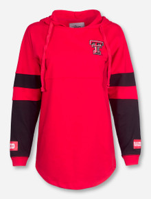 Texas Tech Double T on Red and Black Hoodie