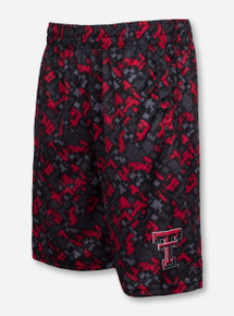 Arena Texas Tech Double T on Digital Pattern Shorts