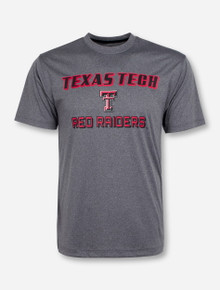 Arena Texas Tech Red Raiders on Heather Charcoal T-Shirt