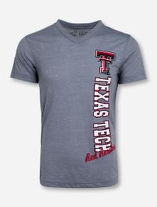 Arena Vertical Texas Tech on Heather Grey T-Shirt