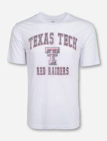 Arena Vintage Faded Texas Tech Arch on White T-Shirt