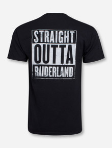 Straight Outta Raiderland Black T-Shirt - Texas Tech