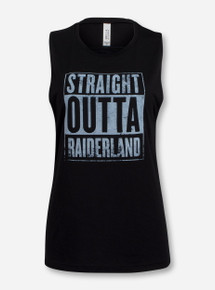 Straight Outta Raiderland Black Tank Top