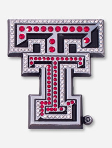 Texas Tech Crystal Red Double T Car Emblem