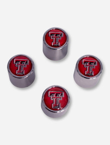 Texas Tech Red Double T Automotive Valve Stem Caps