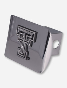 Texas Tech Chrome and Rhinestone Double T on Chrome Hitch Cover
