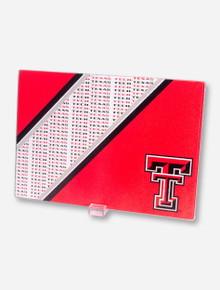 Texas Tech Double T Glass Cutting Board