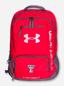 "Under Armour Texas Tech ""Hustle II"" Black & White Double T Backpack"