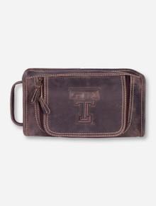 Taylor Falls Texas Tech Brown Travel Kit