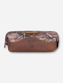 Texas Tech Camo Leather Double T Travel Kit
