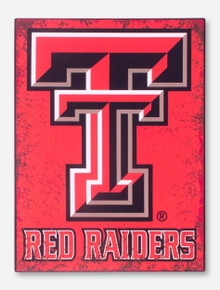 Texas Tech Distressed Double T Metal Sign
