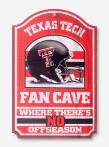 Texas Tech Fan Cave Helmet Wall Hanging