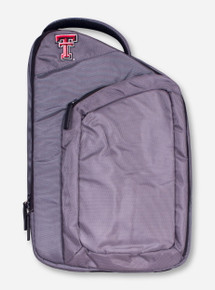 Logo Texas Tech Double T on Grey Sling Pack