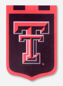 Texas Tech Double T Shield Double Sided Banner